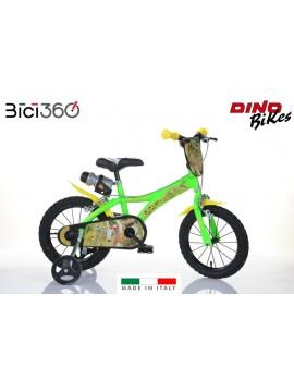 """Bicicletta Gigantosaurus 14"""" bambino"""