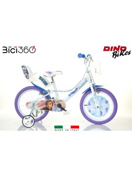 "Bicicletta Frozen 3 - 14"" bambina - Dino Bikes"