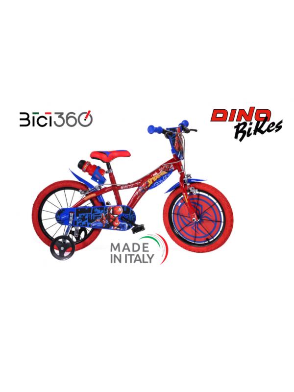 """Bicicletta Spiderman 16"""" bambino NOVITÀ 2021"""