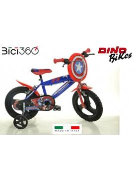 """Bicicletta Captain America 12"""" bambino"""