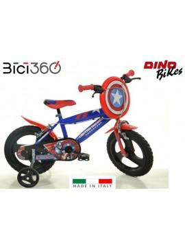 """Bicicletta Captain America 14"""" bambino"""