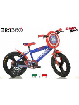 """Bicicletta Captain America 16"""" bambino"""
