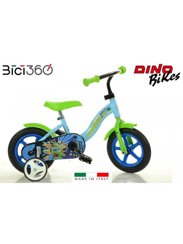 "Bicicletta NINJA Half Shell Heroes 10"" bambino"