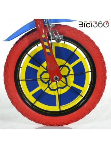"""Bicicletta PAW PATROL 14"""" bambino/bambina - Ruota"""