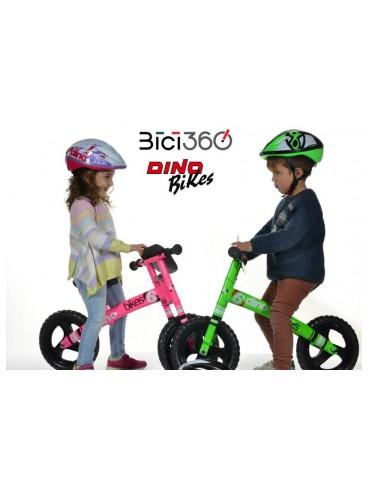 CascoDAA in abbinamento al runner Dino Bikes 150R-02 (rosa fluo)