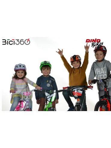 CascoDAA abbinato alla bicicletta LITTLE HEART - Dino Bikes