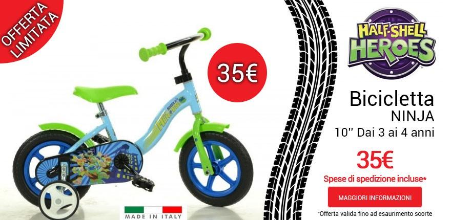 Bicicletta Ninja Half Shell Heroes a 35€