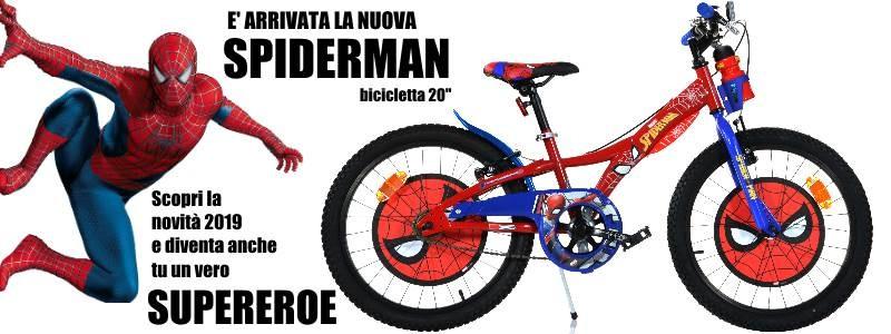 Bicicletta Spiderman 20 pollici - novità 2019